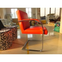 Mies Brno Flat Chair in real calf leather