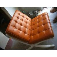 Mustard Brown Barcelona Chair