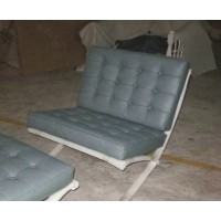 Grey Green Barcelona Chair