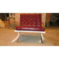 Gloss Maroon Red Barcelona Chair