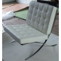Off White Barcelona Chair