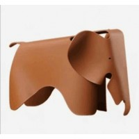Eames Elephant Lounge Chair in Brown Cognac