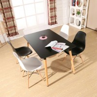 Eames DSW DAW simple style wooden Rectangular table