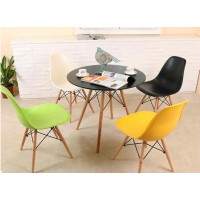 Charles Eames DSW DAW style wooden table of 80cm
