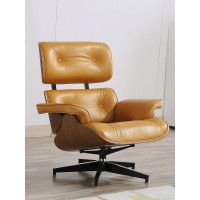 Eames style Lounge Chair and Ottoman in PU leather