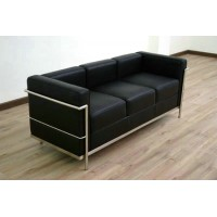 Le Corbusier Style sofa of 3 seats, sofa LC2