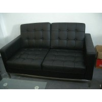 Florence Knoll Sofa,two seats,Loveseat, made in PU leather