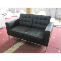 Florence Knoll Sofa,two seats,Loveseat, made in Real calf leather