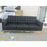Florence Knoll Sofa,three seats, made in PU leather