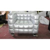 Hoffman Kubus Single Chair,Armchair in PU leather