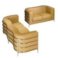 Onda Loveseat Sofa in Fabric or PU leather