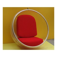 Hanging Bubble Chair in red