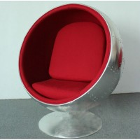 Ball chair in aluminium shell for kids