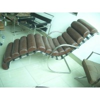 Mies MR Lounge Chaise Lounge Chair,style 1, made in PU leather or fabric