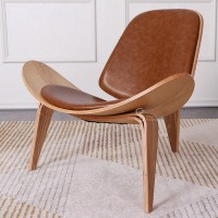 Three Legged Shell Chair Hans Wegner style