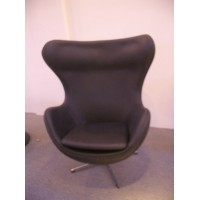 Egg chair and ottoman in PU leather