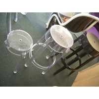 Kartell Style Ghost Bar Stool,Large size in transparent clear color