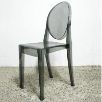 Ghost chair without arm in transparent black