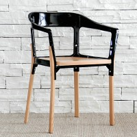 Gossip Metal and Wood Chair